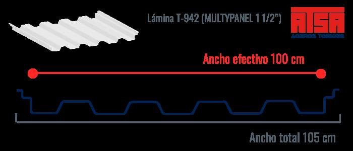 Lámina traslúcida T942 Multypanel